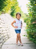 Little beautiful and fashion girl smilling royalty free stock image