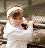 Little beautiful girl. Portrait of little beautiful girl wearing headband Royalty Free Stock Image
