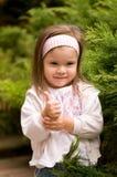 Little beautiful girl. Portrait of little beautiful girl wearing headband Royalty Free Stock Photo