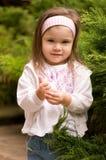 Little beautiful girl. Portrait of little beautiful girl wearing headband Royalty Free Stock Photography