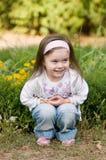 Little beautiful girl. Portrait of little beautiful girl wearing headband Stock Photo
