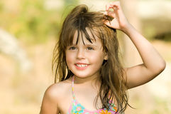 Little beautiful girl Stock Photo