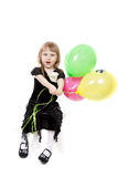 Little beautiful girl with balloons Royalty Free Stock Photo