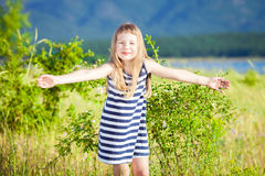 Little beautiful girl Stock Photos