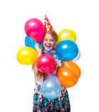 Little beautiful girl celebrate her birthday Stock Photo