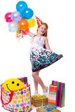 Little beautiful girl celebrate her birthday Stock Photography