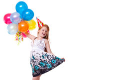 Little beautiful girl celebrate her birthday Royalty Free Stock Photos