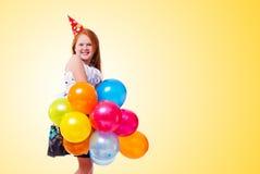 Little beautiful girl celebrate her birthday Royalty Free Stock Photos