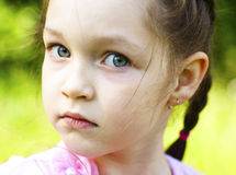 Little beautiful girl, close up Royalty Free Stock Photography