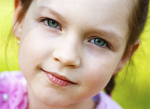 Little beautiful girl, close up. Portrait of little beautiful girl, close up royalty free stock image