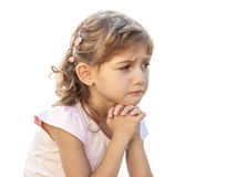 Little beautiful girl portrait sad cry Royalty Free Stock Photo
