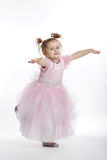 Little beautiful girl posing on white Royalty Free Stock Photos