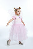 Little beautiful girl posing on white Royalty Free Stock Photography