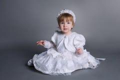 Little beautiful girl in wedding dress Royalty Free Stock Photos