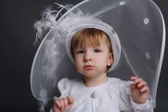 Little beautiful girl in wedding dress Royalty Free Stock Image
