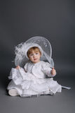 Little beautiful girl in wedding dress Stock Photography