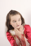 Little beautiful girl wondering Royalty Free Stock Photography