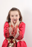 Little beautiful girl wondering Stock Photos