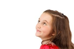 Little beautiful girl wondering Royalty Free Stock Image