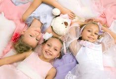 Little beautiful girlfriends Royalty Free Stock Photo