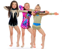 Little beautiful gymnasts Royalty Free Stock Photography