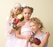 Little beautiful ladies Stock Photos