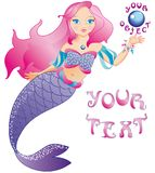 The little beautiful mermaid Royalty Free Stock Photo