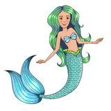 Little beautiful mermaid. Royalty Free Stock Photo