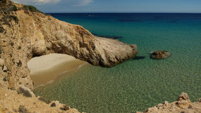 Little beautiful south-sardinian beach Stock Image