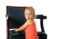 Free Little Beauty Girl Look Around And Look Back Royalty Free Stock Photography - 4918147