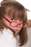 Little beauty with red glasses Royalty Free Stock Photos