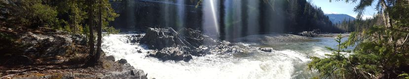 Little beaver falls panorama royalty free stock photography