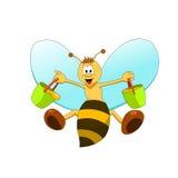 Little bee. Cartoon illustration of little colorful bee vector illustration