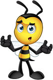 Little Bee Character - Confused. A cartoon illustration of an cute looking Little Bee Character stock illustration