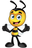 Little Bee Character - Hands On Hips Royalty Free Stock Photo