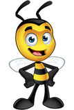 Little Bee Character - Hands On Hips. A cartoon illustration of an cute looking Little Bee Character stock illustration