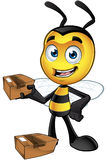 Little Bee Character - Holding Parcel royalty free illustration