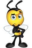Little Bee Character - Thinking. A cartoon illustration of an cute looking Little Bee Character vector illustration