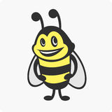 Little bee character. Vector illustrations bee character with a smile royalty free illustration