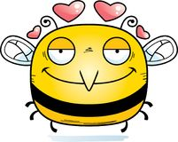 Little Bee in Love. A cartoon illustration of a bee in love stock illustration