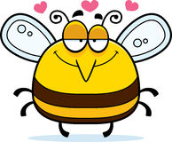 Little Bee in Love. A cartoon illustration of a bee in love vector illustration