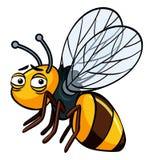 Little bee with sad face. Illustration stock illustration