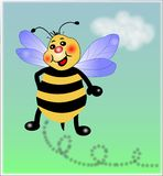 Little Bee in the sky. It is little Bee,in the sky,illustration royalty free illustration