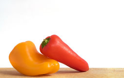 Little bell peppers on the Board Stock Photo