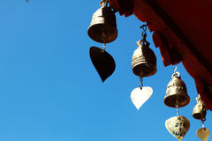 Little Bells with blue sky. In temple Royalty Free Stock Photo