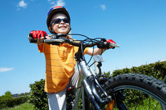 Little bicyclist Royalty Free Stock Photos