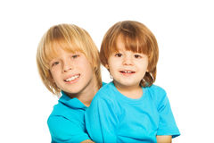 Little and big brothers Royalty Free Stock Photo