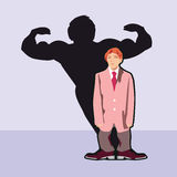 A little big man. A man who feels strong and appears weak Stock Images