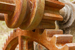 Little and big rusty gears. Royalty Free Stock Images