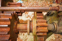 Little and big rusty gears. Stock Photography